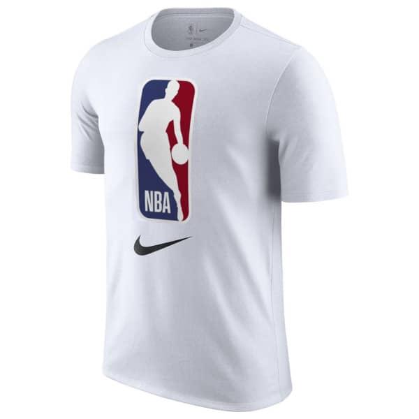 2ef70cbb Nike NBA Logo Dri-Fit Basketball T-Shirt White   TAASS.com Fan Shop