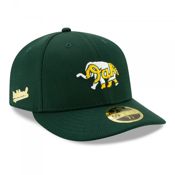 Oakland Athletics 2021 MLB Authentic Batting Practice Low Profile 59FIFTY Fitted Cap