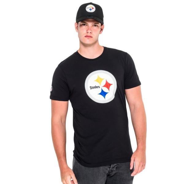 Pittsburgh Steelers Team Logo Football NFL T-Shirt Schwarz