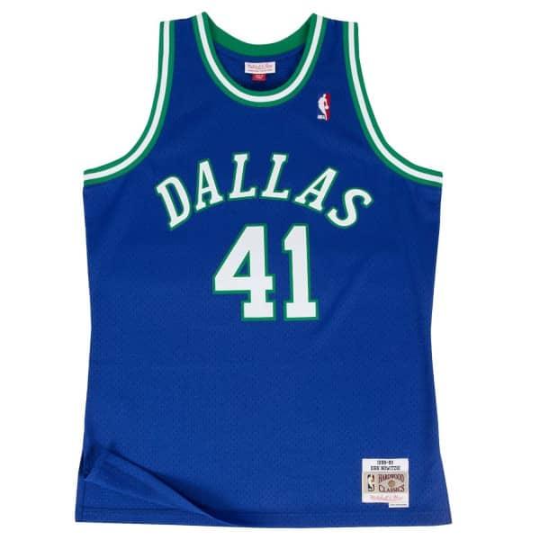 Dirk Nowitzki #41 Dallas Mavericks 1998-99 Swingman NBA Trikot Blau