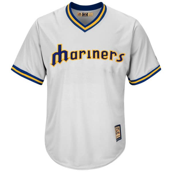 Seattle Mariners Cooperstown Cool Base MLB Trikot Weiß