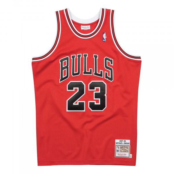 Michael Jordan #23 Chicago Bulls 1997-98 Authentic NBA Trikot Rot