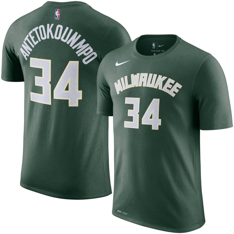55f4c013877 Nike Giannis Antetokounmpo  34 Milwaukee Bucks Player NBA T-Shirt Green