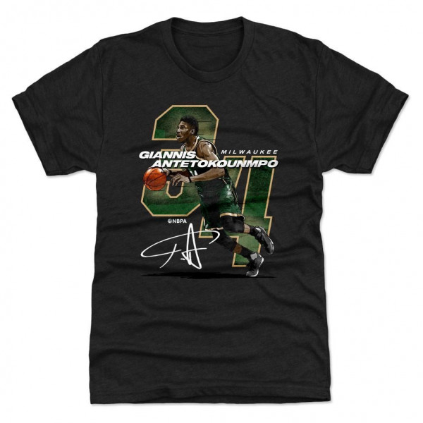 Giannis Antetokounmpo Milwaukee #34 NBA T-Shirt