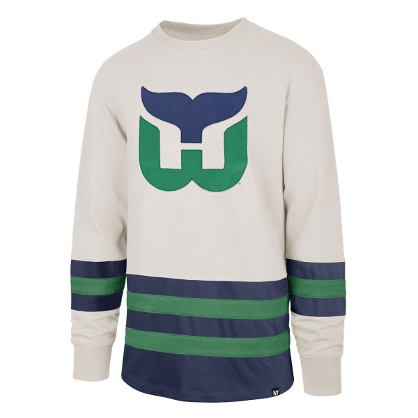 47 Brand Hartford Whalers Center Ice Crewneck NHL Sweatshirt  b93bfbf42