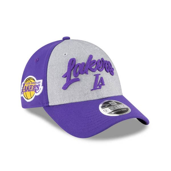 Los Angeles Lakers Authentic 2020 NBA Draft New Era Stretch-Snap 9FORTY Cap
