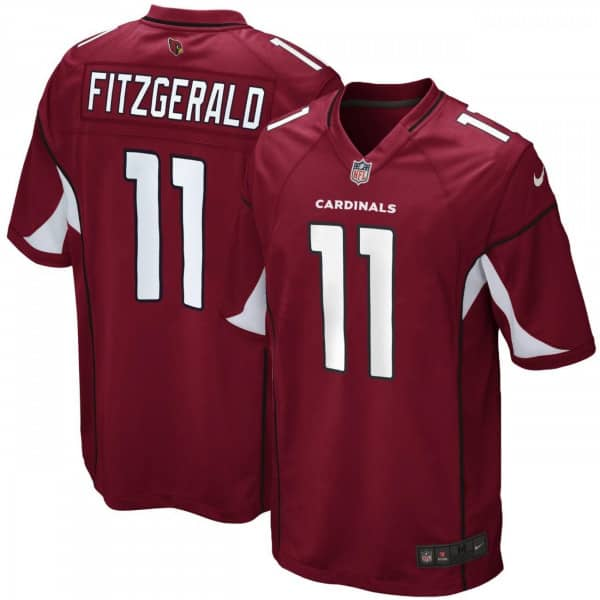 Larry Fitzgerald #11 Arizona Cardinals Game Football NFL Trikot Rot