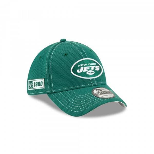 New York Jets 2019 NFL On-Field Sideline 39THIRTY Stretch Cap Road