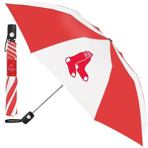 Boston Red Sox MLB Regenschirm (Taschenschirm mit Automatik)