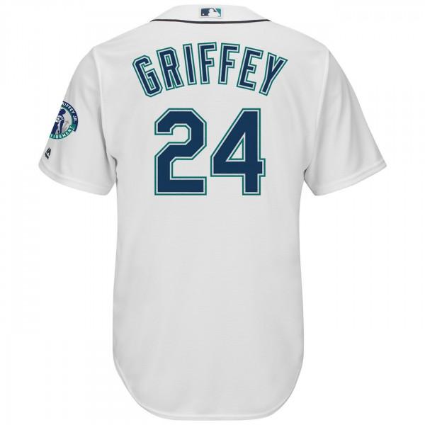 Ken Griffey Jr. Seattle Mariners Cool Base MLB Trikot /w Retirement Patch