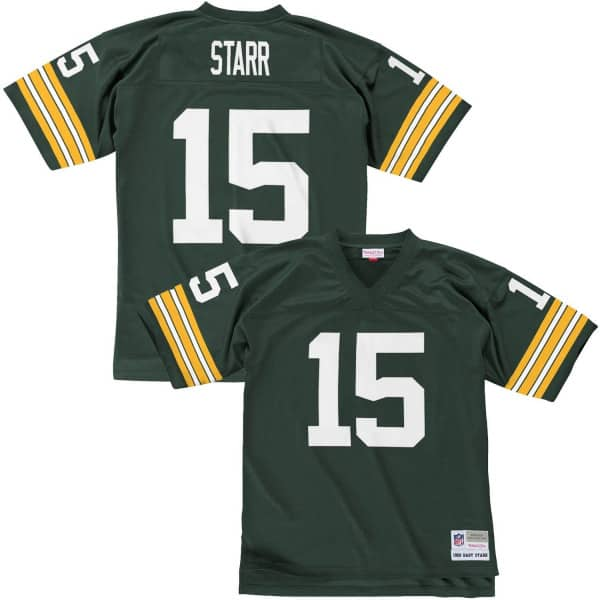 Bart Starr #15 Green Bay Packers Replica Throwback NFL Trikot