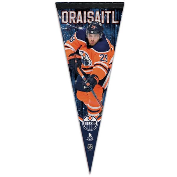 Leon Draisaitl Edmonton Oilers Player NHL Wimpel