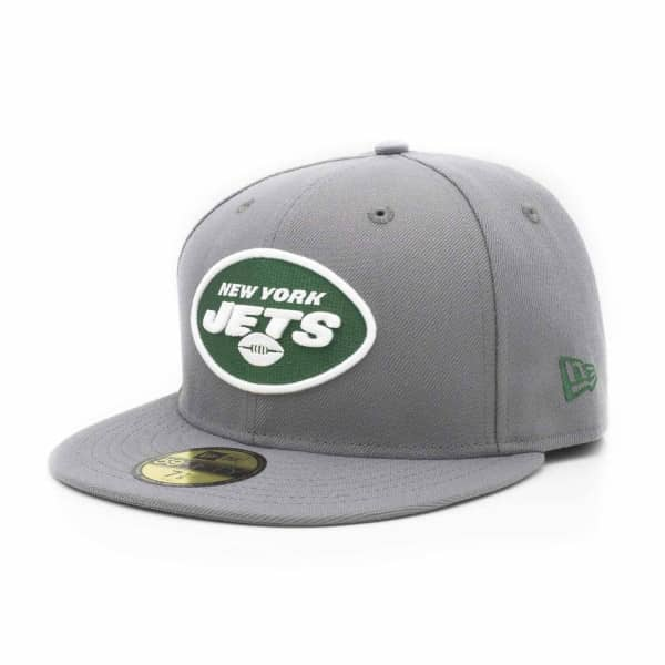New York Jets Storm Gray 59FIFTY Fitted NFL Cap
