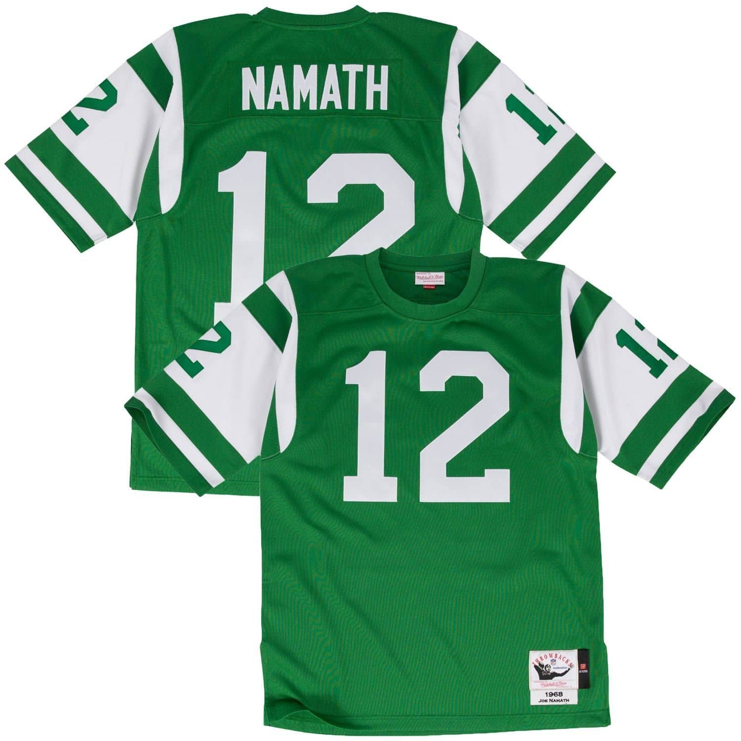 buy popular 95f18 e5a9d Joe Namath #12 New York Jets 1968 Authentic Throwback NFL Jersey