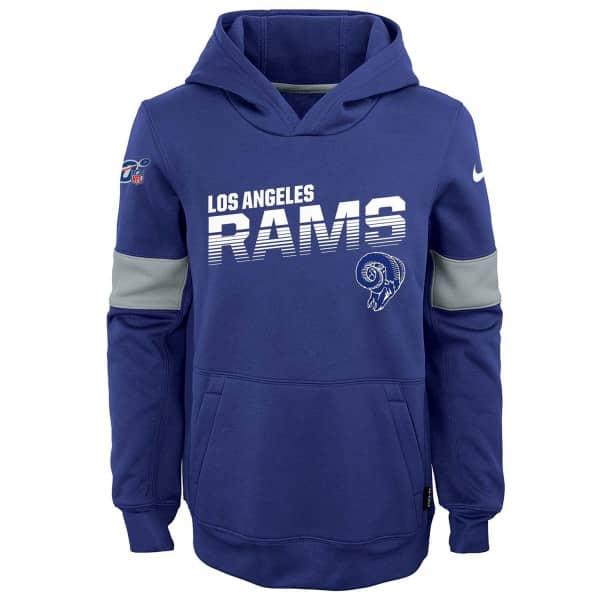 Los Angeles Rams Throwback 2019 NFL Sideline Therma Hoodie (KINDER)