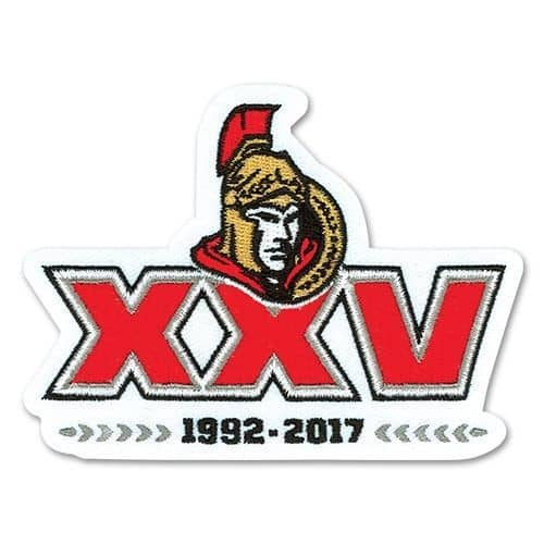 Ottawa Senators 25th Anniversary NHL Eishockey Patch / Aufnäher