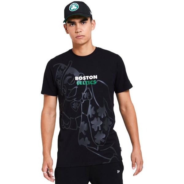 Boston Celtics New Era Big Logo Gradient NBA T-Shirt