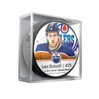 Leon Draisaitl Edmonton Oilers Star Player NHL Puck