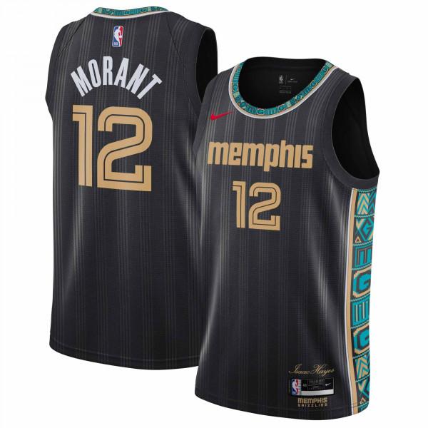 Ja Morant #12 Memphis Grizzlies 2020/21 City Edition Nike Swingman NBA Trikot