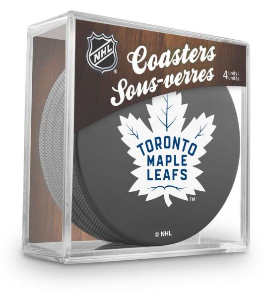 Toronto Maple Leafs NHL Eishockey Puck Untersetzer (4er Set)