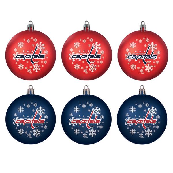 Washington Capitals NHL Weihnachtskugeln Geschenk-Set (6-Teilig)
