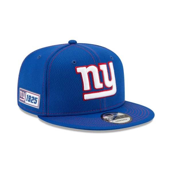 New York Giants 2019 NFL On-Field Sideline 9FIFTY Snapback Cap Road