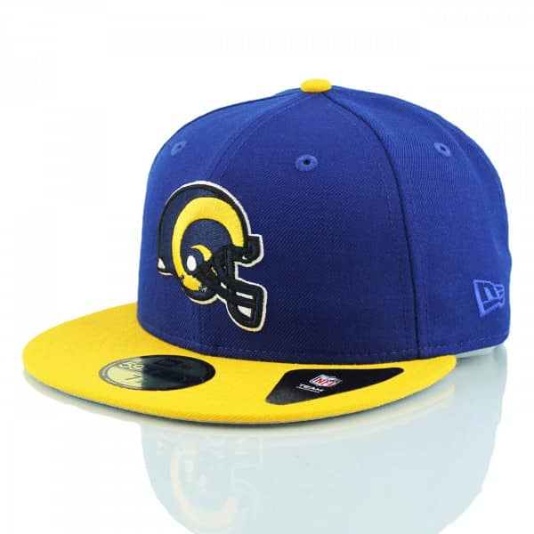 detailed look 1bdc2 8ad85 New Era Los Angeles Rams Throwback 59FIFTY Fitted NFL Cap   TAASS.com Fan  Shop