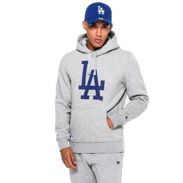 Los Angeles Dodgers Logo Hoodie MLB Sweatshirt Grau