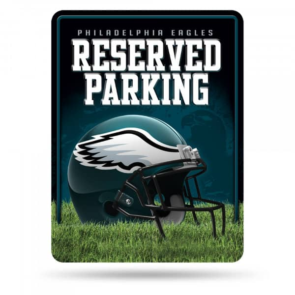 Philadelphia Eagles Reserved Parking NFL Metallschild