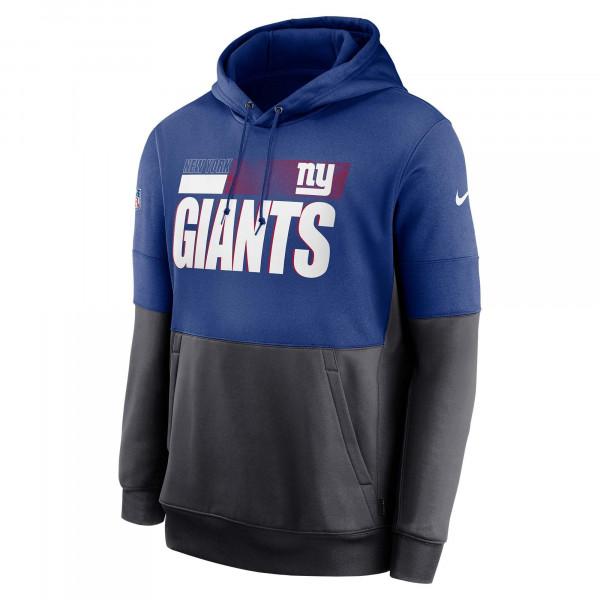 New York Giants 2020 NFL Sideline Lockup Nike Therma Hoodie