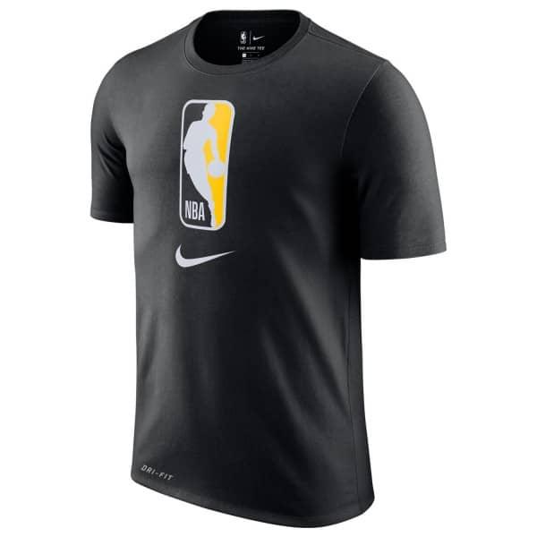 NBA Logo Dri-Fit Basketball T-Shirt Schwarz/Gelb