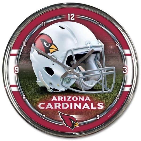 Arizona Cardinals Chrome NFL Wanduhr