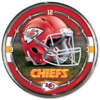 Kansas City Chiefs Chrome NFL Wanduhr