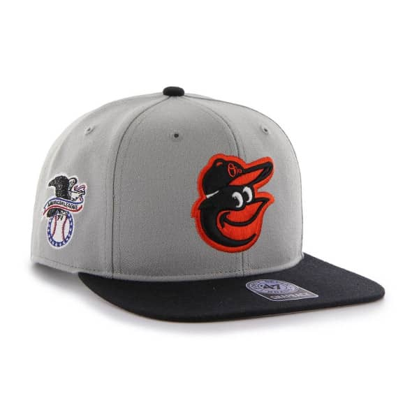 Baltimore Orioles Two-Tone Sure Shot '47 Captain Snapback MLB Cap Grau