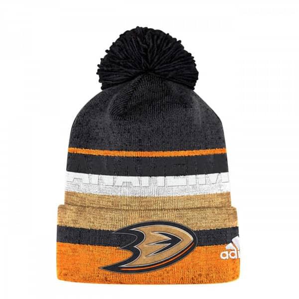8adbf9d7 adidas Anaheim Ducks Juliet Cuffed Beanie NHL Knit Hat | TAASS.com Fan Shop