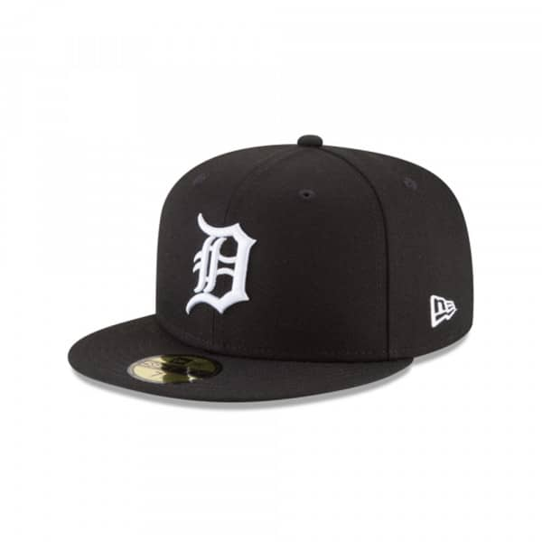 Detroit Tigers Black & White 59FIFTY Fitted MLB Cap