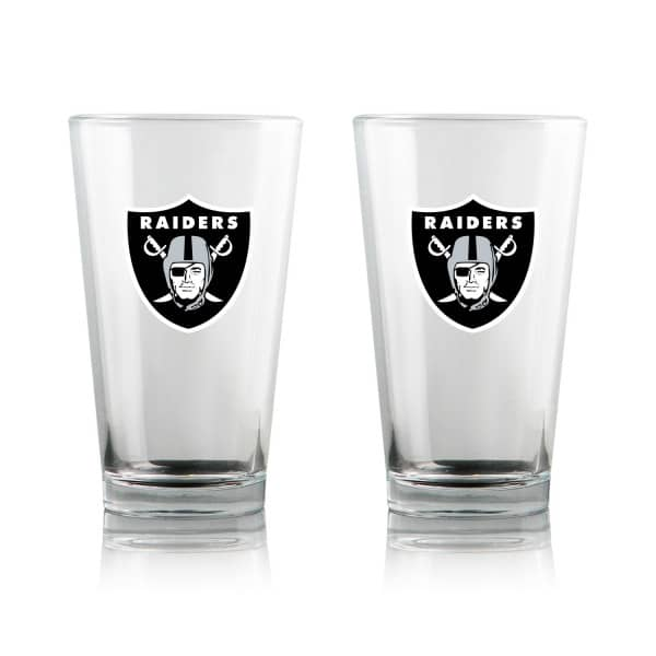 Las Vegas Raiders Highball NFL Pint Glas Set (2 Stk.)