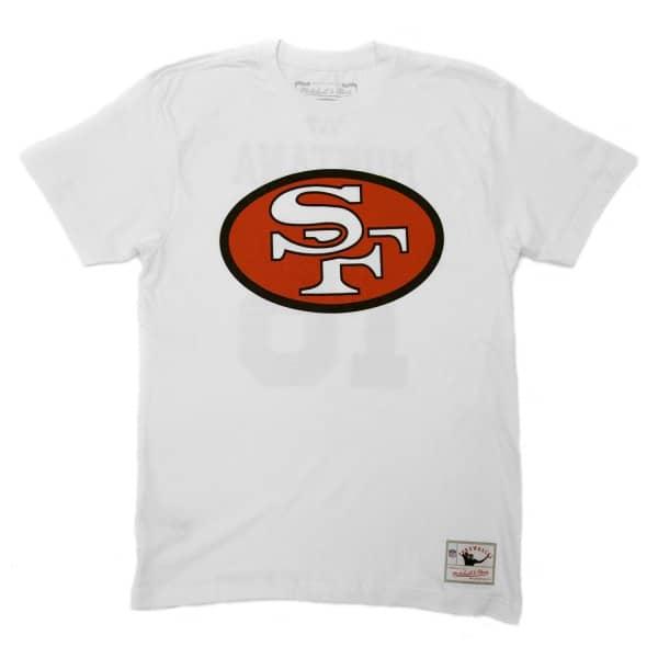 Joe Montana #16 San Francisco 49ers Logo Mitchell & Ness NFL T-Shirt Weiß