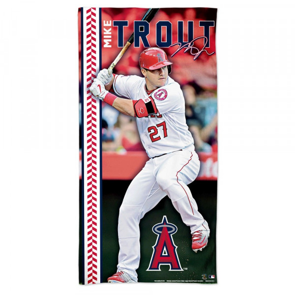 Mike Trout Los Angeles Angels MLB Strandtuch