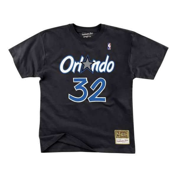 7ea863cb961 Mitchell   Ness Shaq O Neal  32 Orlando Magic Name   Number NBA Tee Black