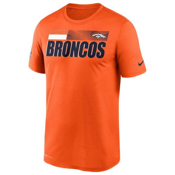 Denver Broncos 2020 NFL Sideline Nike Legend T-Shirt Orange