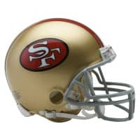 San Francisco 49ers NFL Throwback Mini Helmet (1964-95)