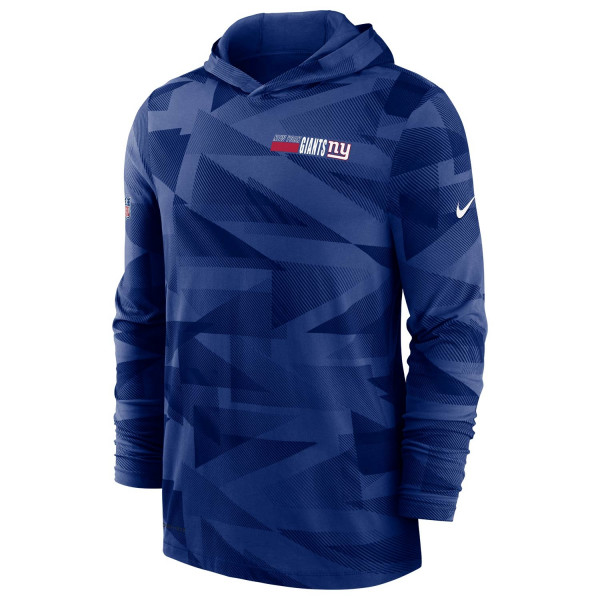 New York Giants 2020 NFL Sideline Long Sleeve Nike Lightweight Hoodie