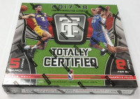 2017/18 Panini Totally Certified Basketball Hobby Box NBA