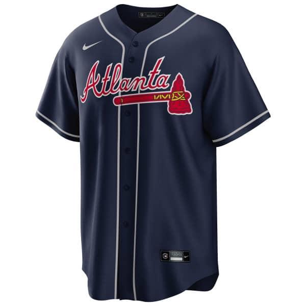 Atlanta Braves 2020 Nike MLB Replica Alternate Trikot Navy