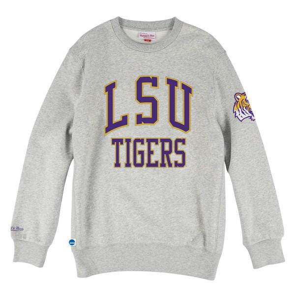 LSU Tigers Playoff Win Mitchell & Ness NCAA Crew Neck Sweater