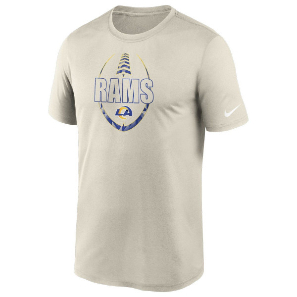 Los Angeles Rams 2020 NFL Icon Nike Performance T-Shirt Bone