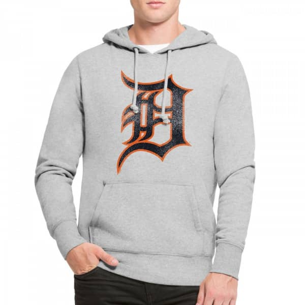 100% authentic 21c18 9f92a  47 Brand Detroit Tigers Knockaround Hoodie MLB Sweatshirt Grey   TAASS.com  Fan Shop