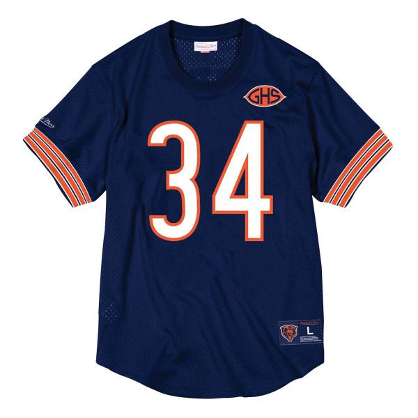 Walter Payton #34 Chicago Bears Throwback NFL Mesh Crewneck Shirt