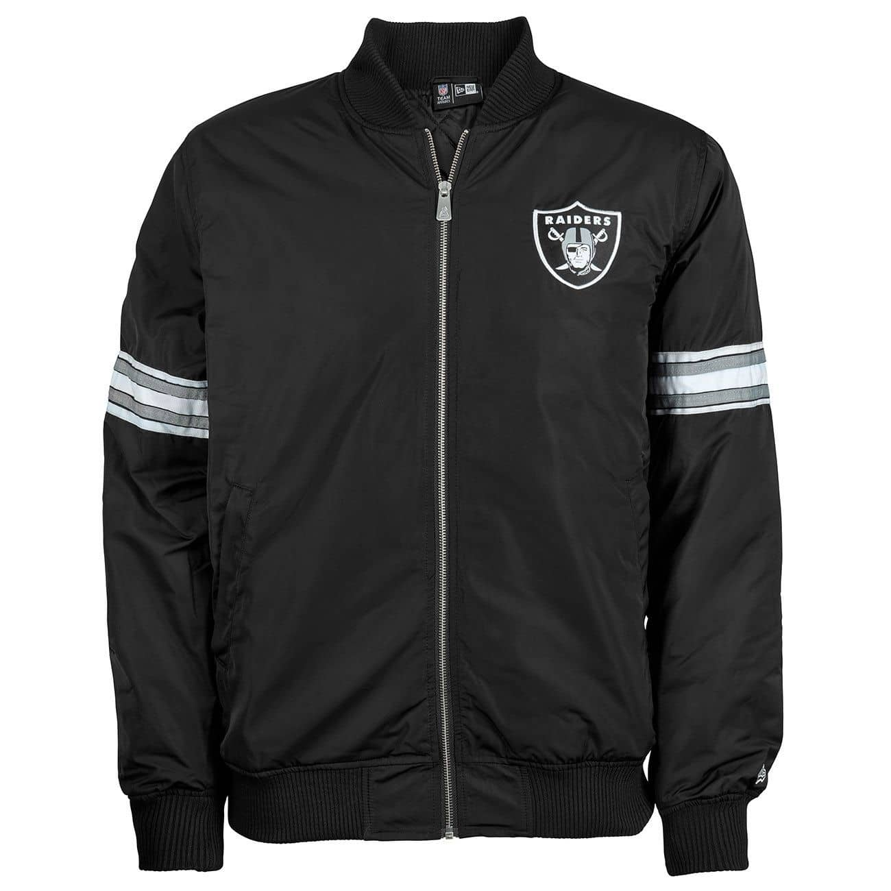 be7b32a57 New Era Oakland Raiders Team Apparel NFL Bomber Jacke Black